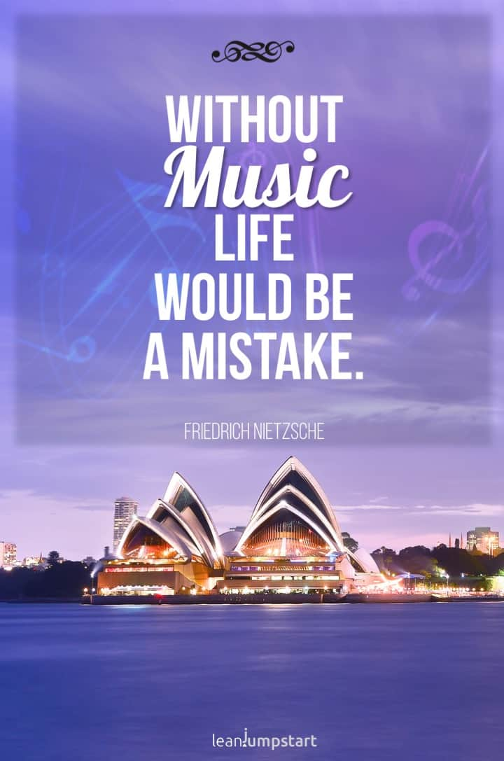 inspirational music quote