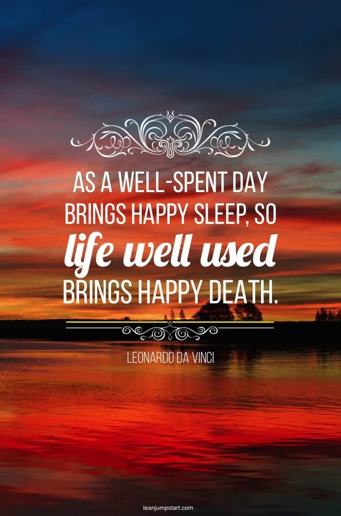 life well used quote