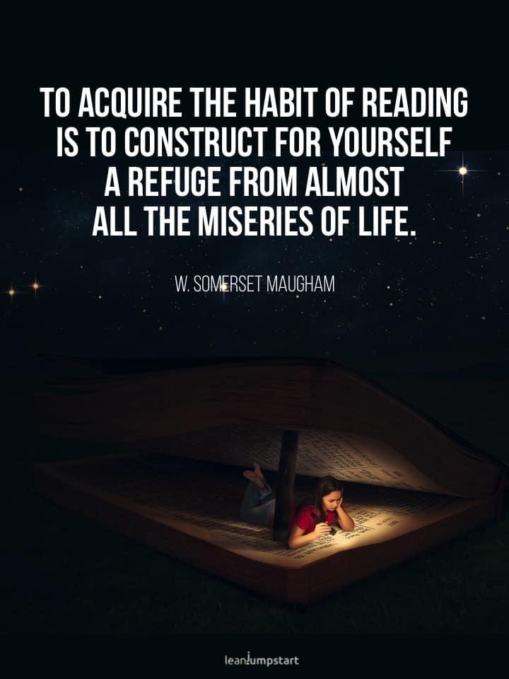 habit of reading quote