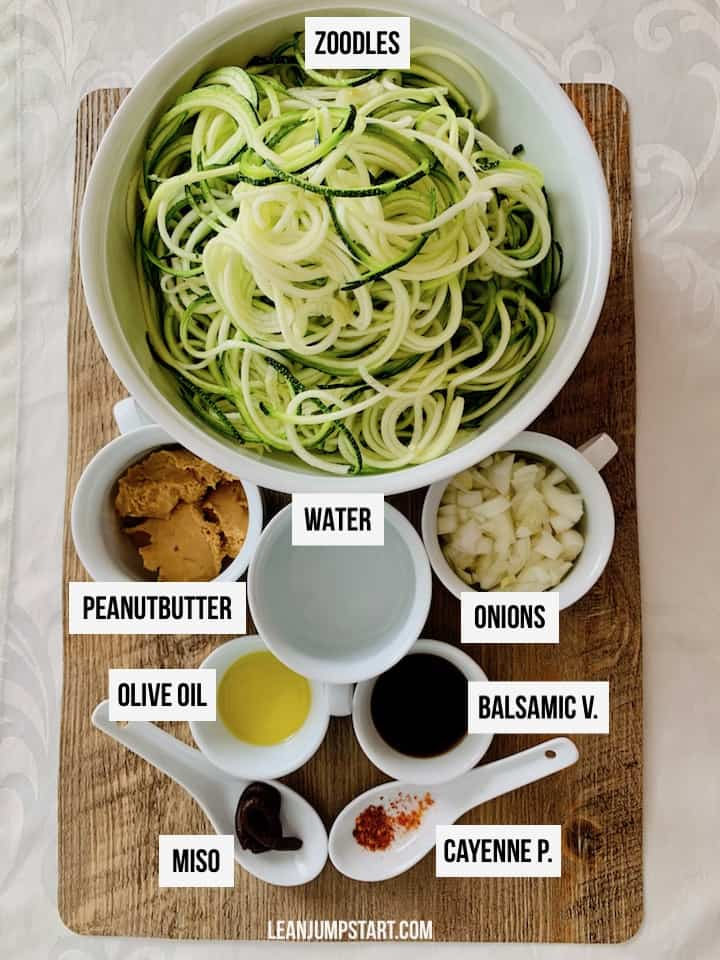 peanut zoodles ingredients