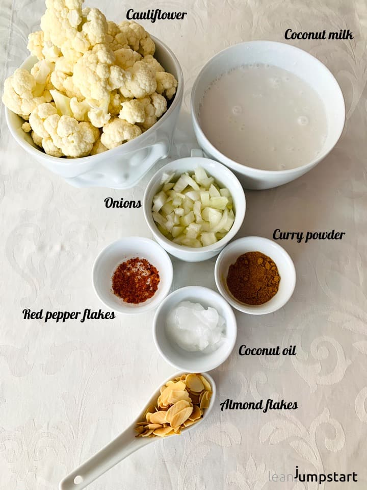 cauliflower curry ingredients