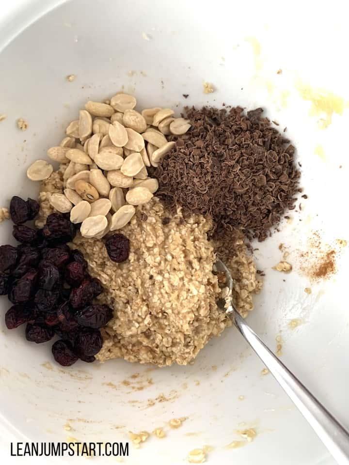 chocolate peanuts cranberries